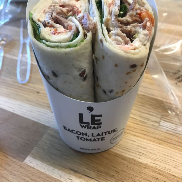 LE WRAP, Bacon Laitue Tomate