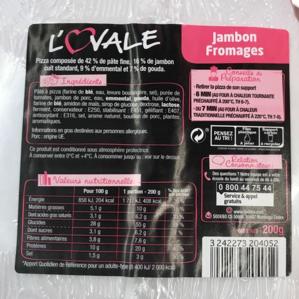 L'Ovale Jambon Fromages