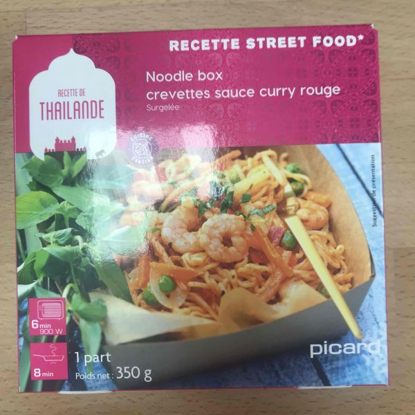 Noodle Box - Crevette sauce curry rouge