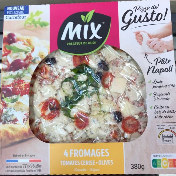 Pizza del gusto 4 fromages