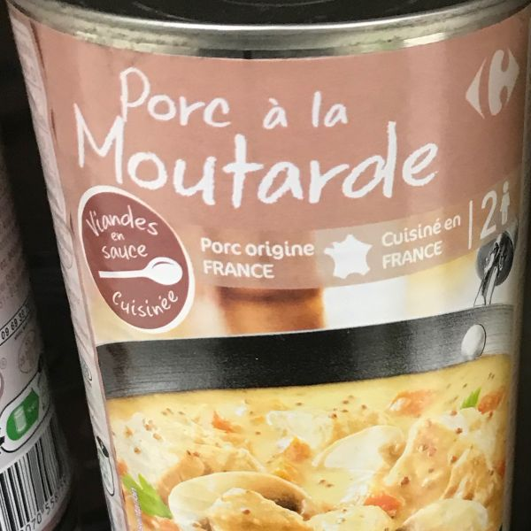 Porc à la moutarde